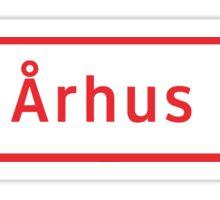 Århus Road Sign, Denmark Sticker