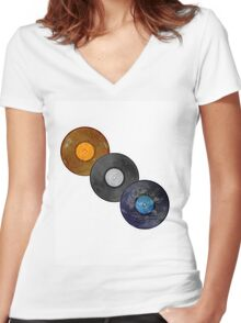 Record Set Women's Fitted V-Neck T-Shirt