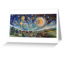 The Stars are Brightly Shinning Greeting Card
