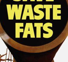 For Gunpowder Save Waste Fats -- WWII Sticker