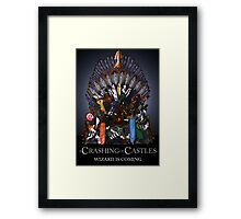 A Crashing Of Castles - Prints and Posters Framed Print