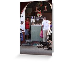 Market Impression - Impresión De Un Mercado Greeting Card