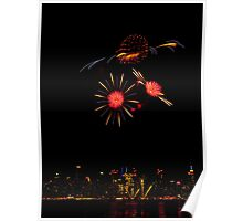 4th July firework NYC Poster
