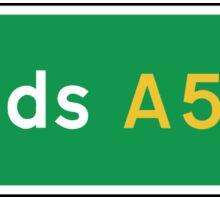 Leeds, Road Sign, UK  Sticker