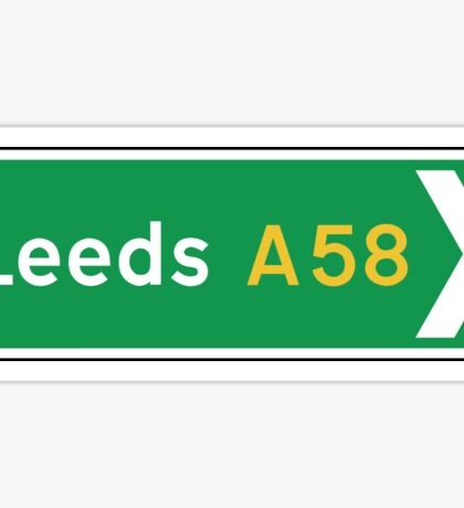 Leeds, Road Sign, UK  Sticker