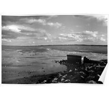 Strangford lough at low tide Poster