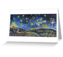 Long Journey to Bethlehem Greeting Card