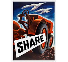 Share -- World War 2 Photographic Print