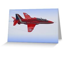Red Arrows Singleton - Farnborough Greeting Card