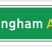 Nottingham, Road Sign, UK  Sticker