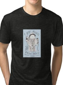 Cover illustration from A Boy Born from Mold and Other Delectable Morsels Tri-blend T-Shirt