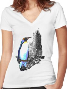 penguins win in the end Women's Fitted V-Neck T-Shirt