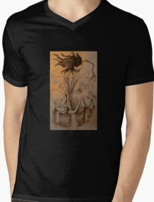 Illustration of H is for Henwrach from A Welsh Alphabet Mens V-Neck T-Shirt