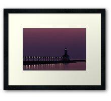 Michigan City, Indiana's East Pierhead Light at Twilight Framed Print