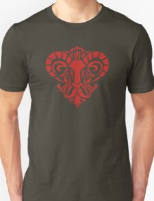 Zodiac Sign Aries Red Unisex T-Shirt