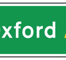 Oxford, Road Sign, UK  Sticker