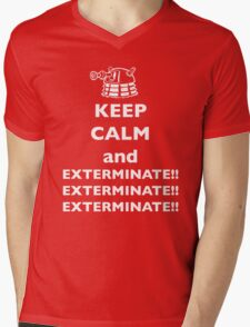 Keep Calm and Exterminate Mens V-Neck T-Shirt