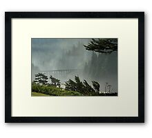 Misty Bridge at Heceta Head Framed Print