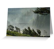 Misty Bridge at Heceta Head Greeting Card