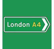 London, Road Sign, UK  Photographic Print