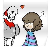Undertale Papyrus and Frisk Poster