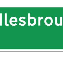 Middlesbrough, Road Sign, UK  Sticker
