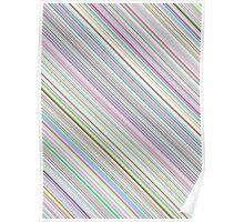Diagonal Multi-Color Lines Poster