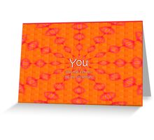 You Are the Center of My Universe Greeting Card