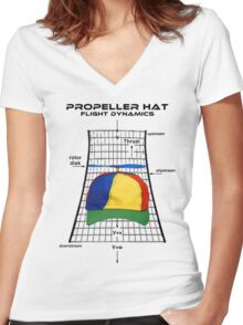 Propeller Hat Flight Dynamics Women's Fitted V-Neck T-Shirt