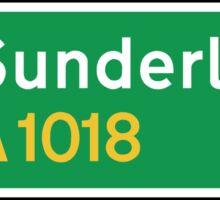 Sunderland, Road Sign, UK  Sticker