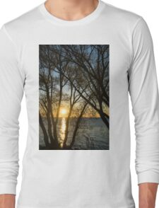 Golden Willow Sunrise Long Sleeve T-Shirt