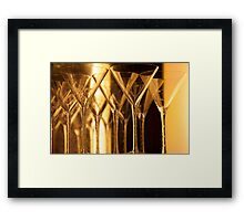Golden Stemware Framed Print