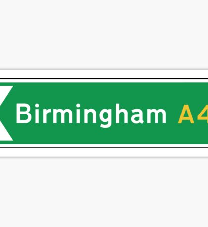 Birmingham, Road Sign, UK  Sticker
