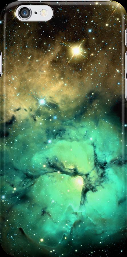 Glowing Nebula iPhone & iPod Case by Krystle