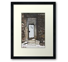 One White Door Framed Print