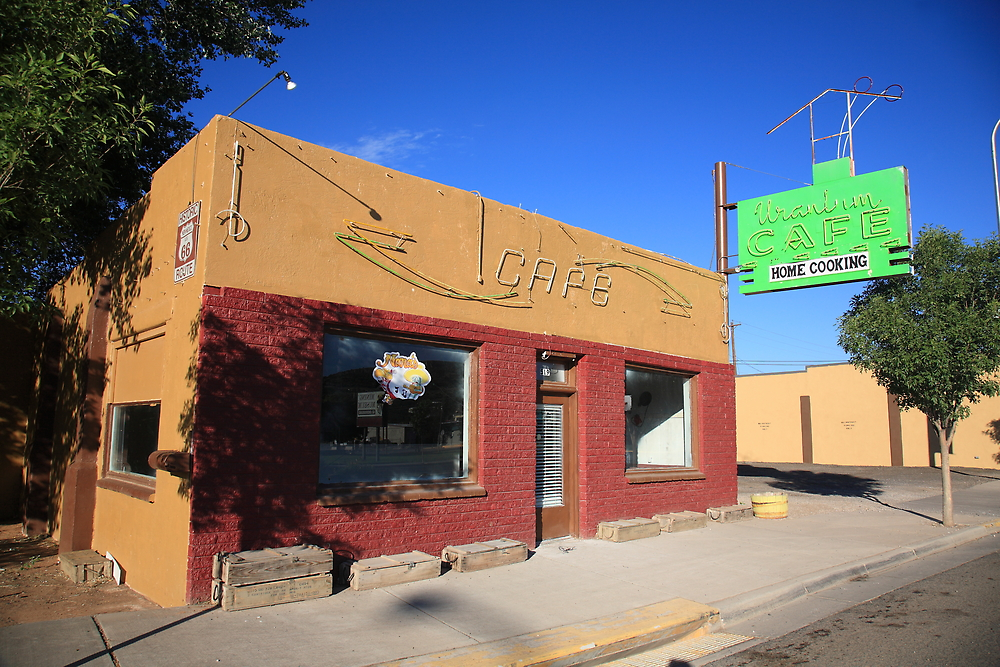 Route 66 - Uranium Cafe by Frank Romeo