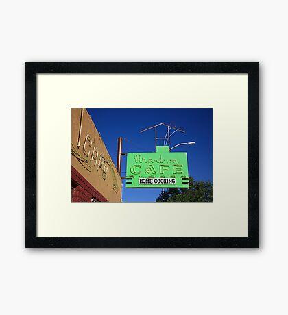 Route 66 - Uranium Cafe Framed Print