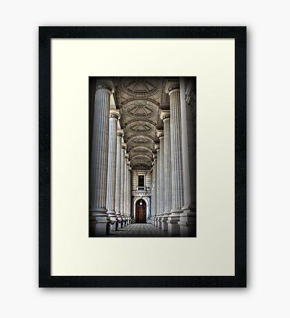 Pillars of STATE Framed Print