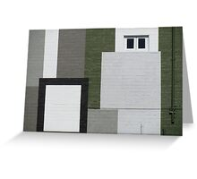 Abstract in green, grey and black Greeting Card