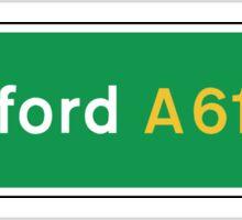 Bradford, Road Sign, UK  Sticker