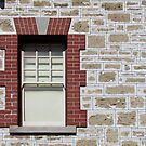 Red brick and limestone by Ian Ker