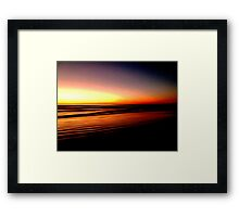 The Lines of Sunrise  Framed Print