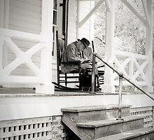 Old Man Texting by EskimoKiss
