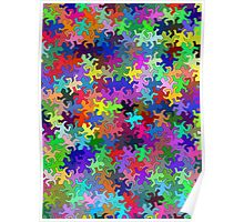 Multi-color Gecko Pattern  Poster