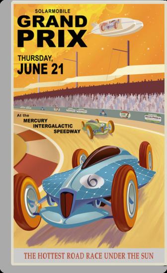 Mercury Travel Poster by stevethomasart
