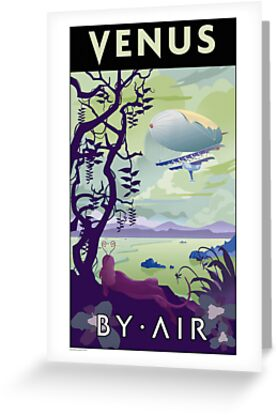 Venus By Air Travel Poster by stevethomasart