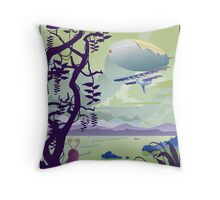 Venus By Air Travel Poster Throw Pillow