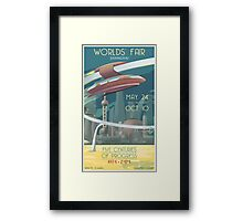 Futuristic Earth Travel Poster Framed Print
