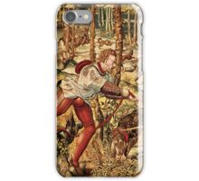 Pastel Brown Tones Hunt Scene-From Maximilian's Tapestry Series iPhone Case/Skin