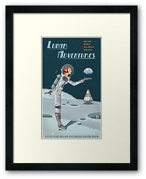 Moon Travel Poster by stevethomasart